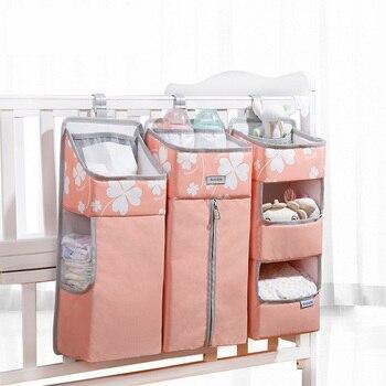 Sunveno Baby Storage Organizer Crib Hanging Storage Bag Caddy Organizer for Baby Essentials Bedding Set Diaper Storage Bag 8