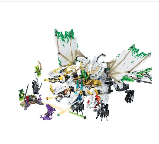 Ninja The Ultra Dragon Movie Flying Mecha Dragon Transformation DIY Building Block Sets Compatible Lepining Ninjagoes 70679 image
