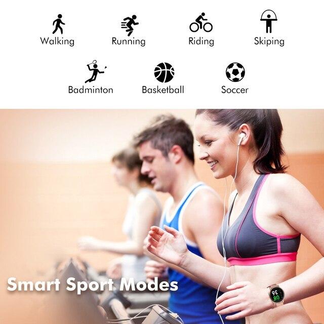 LIGE 2021 Fashion Smart Watch Ladies Heart Rate Blood Pressure Multifunctional Sport Watch Men Woman Waterproof Smartwatch Women 3