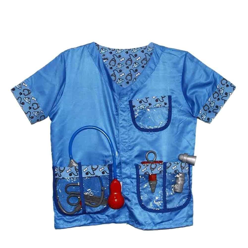 ילדים רופא קוספליי תלבושות מקצועי וטרינר הרכבה קישוט רופא לשחק אבזרי ילדי בית לשחק צעצוע תפקיד לשחק