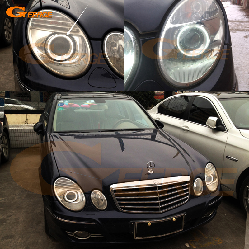 Excellent Ultra Bright CCFL Angel Eyes Kit Halo Rings For Mercedes Benz E Class W211 E200 E220 E270 E280 E320 E420 CDI 2003-2009