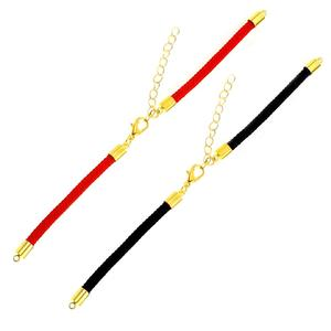 5PCS/lot 3mm 4mm Black Red String Chain Accessories Adjustable Link Chain for DIY Connectors Charms Bracelets Jewelry Making