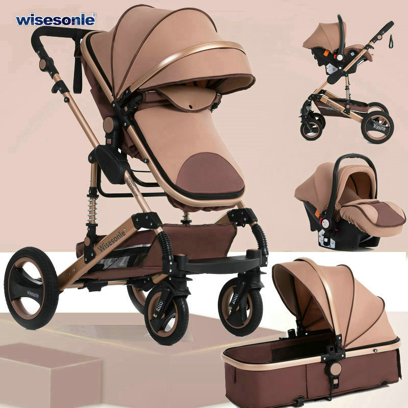 Ultimate SaleBaby-Stroller Four-Seasons In-Russia High-Landscape Children New 3-To-1 Double-Faced