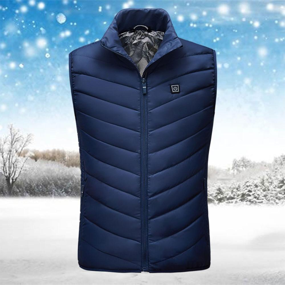 Heated Vest Men Winter Electrical Heated Sleevless Jacket Travel USB Heating Vest Outdoor Waistcoat Hiking Cold Protection  Hea