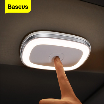 Baseus samochód dotykowy LED lampka nocna światło na dach samochodu sufitowe magnes lampy samochodowe oświetlenie wnętrza, do czytania akumulator USB do ładowania