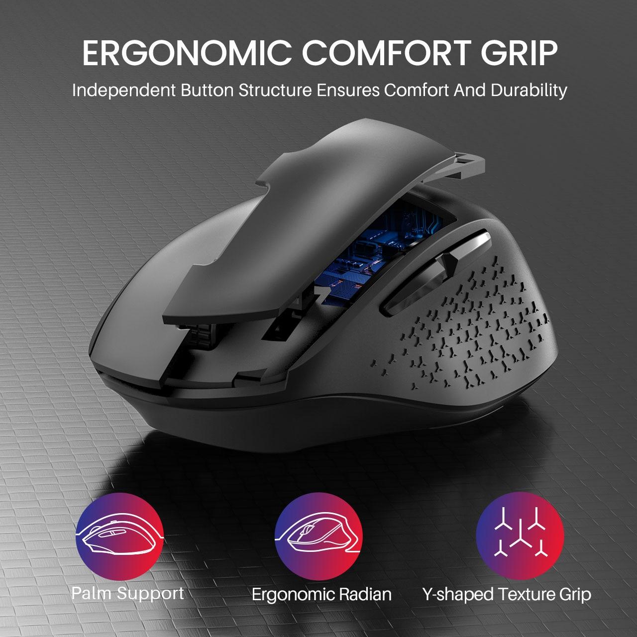 sem fio tamanho grande confortável silencioso mouse