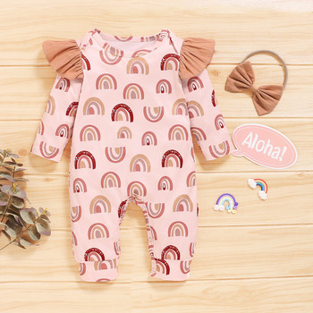 Baby Boys Girls Romper Infant Cotton Long Sleeve Rainbow Romper Jumpsuit Headband Outfits Newborn Baby Clothes Infant Clothing izabebe baby boys girls romper cotton long sleeve jumpsuit infant clothing autumn newborn baby clothes