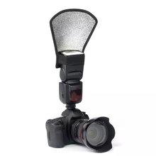 Универсальный Рассеиватель для вспышки камеры софтбокс серебристый и отражатель белого зеркального фотоаппарата аксессуары для фотостудии