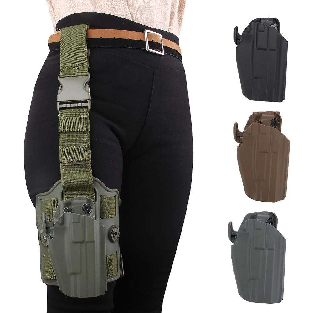 Romantic Pistol Holster Drop Thigh Holster Pouch Hunting Military Nylon Holster Hunting Accessories