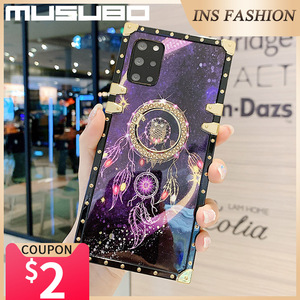 Image 4 - Musubo Luxury Case For Samsung Galaxy S20 Ultra S10 Plus S21 Square Back Cover Note 20 Ultra 10 Plus 9 Fundas Shockproof Coque