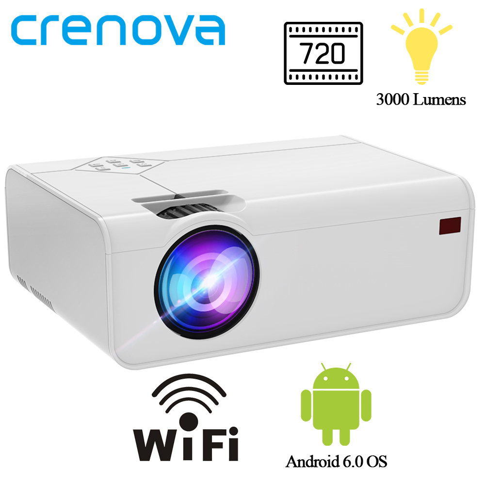 CRENOVA Mini LED Projector A13 (Android Optional A13C) 1280*720P With Wifi Bluetooth 3D Video Projector Support 4K Home Cinema 1