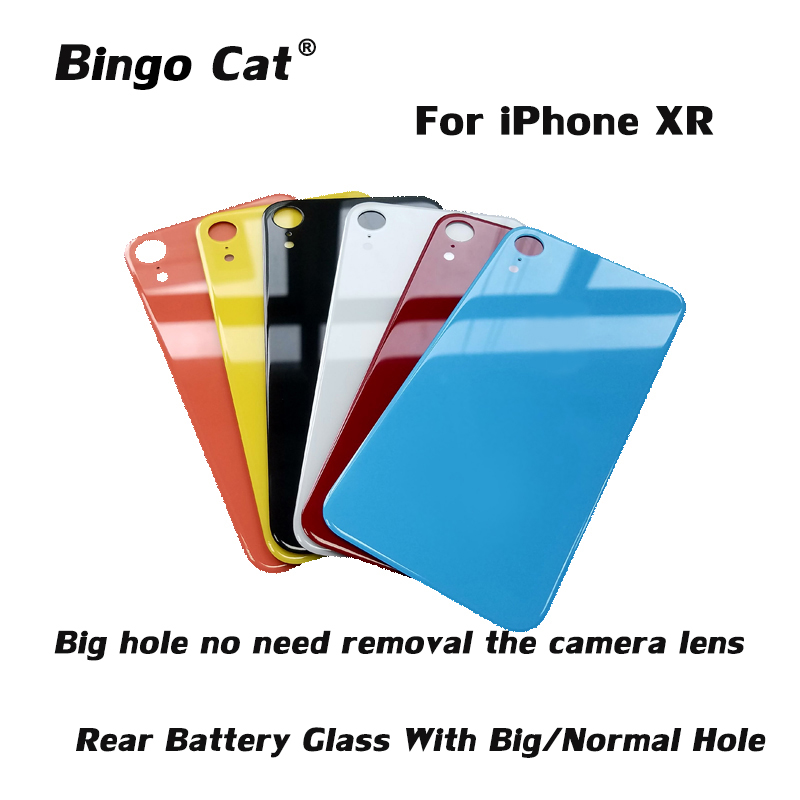 Back Cover  Rear Battery Glass Housing For IPhone XR Rear Door Body Assemble Housing Replacement With Big Hole/Normal Hole
