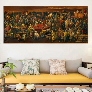 Historical Celebrities Oil Painting Printed on Canvas 3