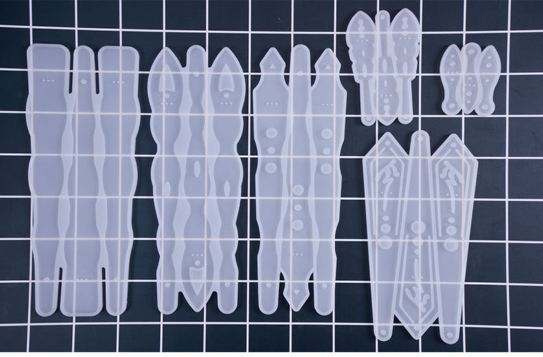 PopularTransparent Fans Expoxy Resin Jewelry Mold DIY Craft Dried Flower Jewelry Making Tools UV Glue Jewelry Decorative Molds