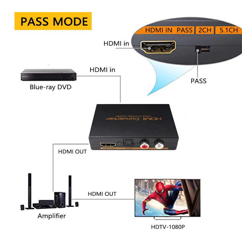 ビデオ Spiltter HDMI に Hdmi 光 TOSLINK SPDIF アナログ RCA L/R ステレオオーディオアダプタコンバータ用 DVD プレーヤー Xbox PS4