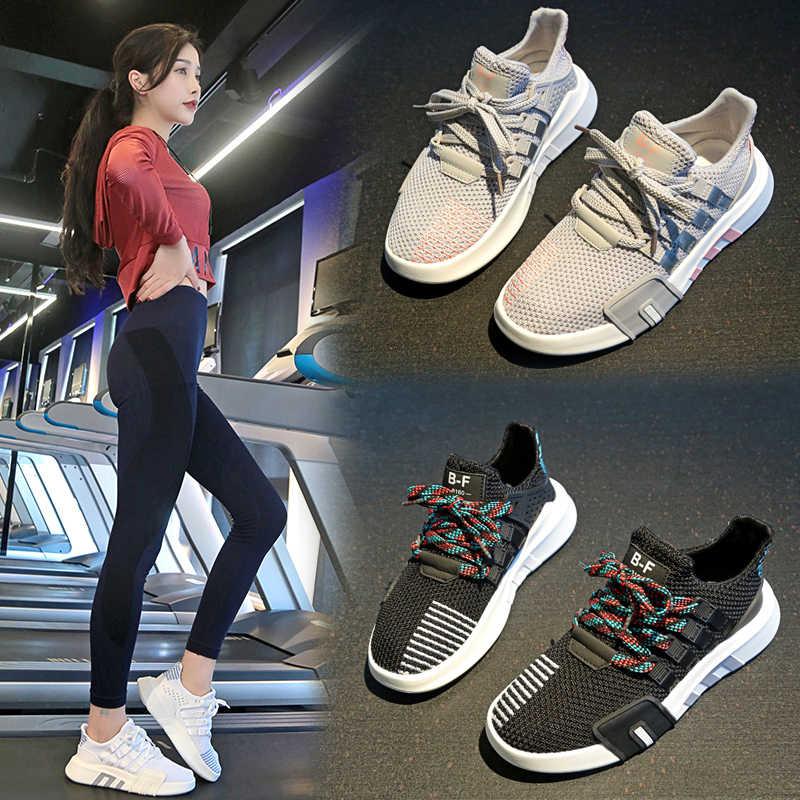 サイズ 35-43 2019 新ファッションの女性のテニスシューズ男性黒、グレー、白メッシュスニーカージムスポーツ靴 tenis Feminino バスケットファム