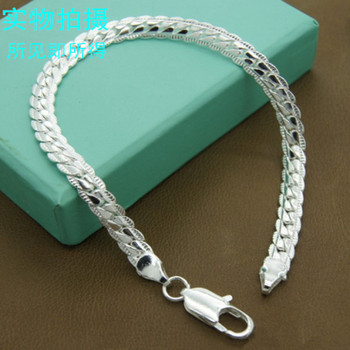 Womens & Mens Fashion 925 Sterling Silver 6 MM Charm Chain Bracelets and Jewelry Gifts