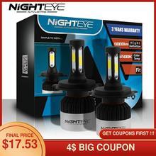 NIGHTEYE 72W Светодиодный лампада H4 H7 светодиодный H11 H8 9005 HB3 9006 HB4 Автомобильные фары для мотоцикла 9000LM автомобильные аксессуары 12В противотуманн...