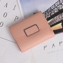 New Designer Button Female Short Wallet Fashion Coin Purse European Ladies Casual Clutch