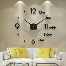Duży zegar ścienny 3D zegar naklejany na ścianę nowoczesny DIY naklejka zegar dekoracja zegara do wystroju domu salon akrylowy kwarc tanie tanio Akrylowe Igła Antique style Pojedyncze twarzy Oddziela circular Nowoczesne QUARTZ Wall Clock Z tworzywa sztucznego