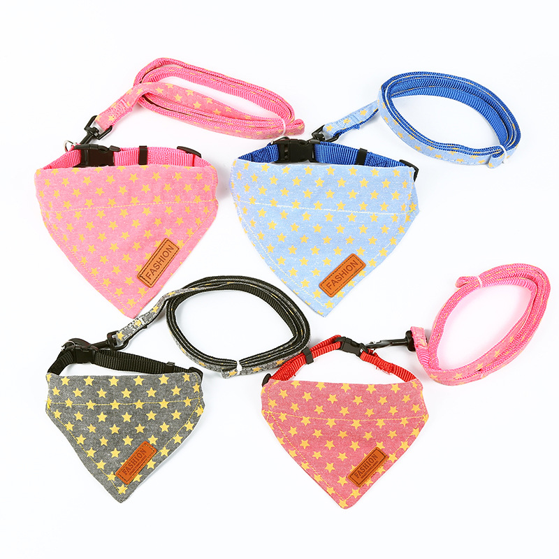 New Style Traction Set Dog Traction Neck Ring Polyester Tow Rope Outdoor Traction Collar