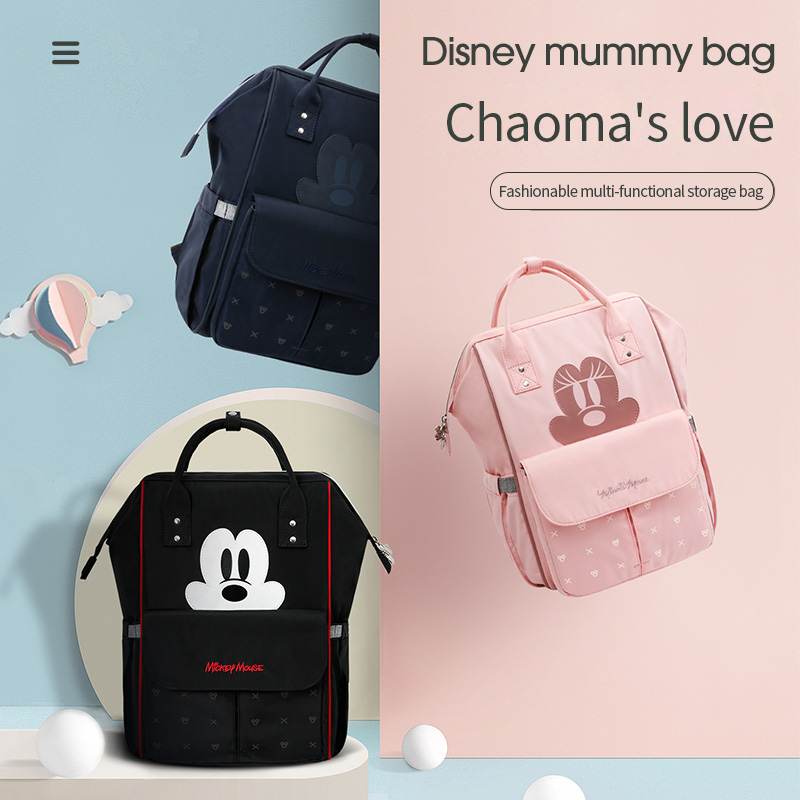 Disney Diaper Bag USB Mommy Backpack Fashion Mummy Maternity Nappy Bag Stroller Bag Large Capacity Multifunctional Baby Bags New