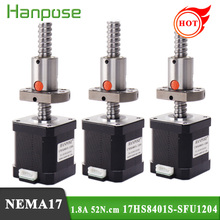 Stepper Motor 3d-Printer 17HS8401S-SFU1204 Nema17 Mini 4-Lead 3PCS 42 for Cnc 250/350mm