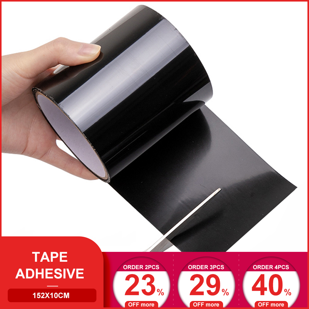 152x10cm Adhesive Tape Super Fix Strong Fiber Waterproof Tape Stop Leaks Seal Repair Tape Performance Self Fixable Tape
