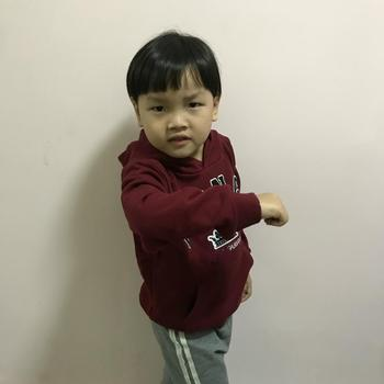 High-end children's autumn new boy's coat in the big boy's cotton embroidered hooded sweater tide