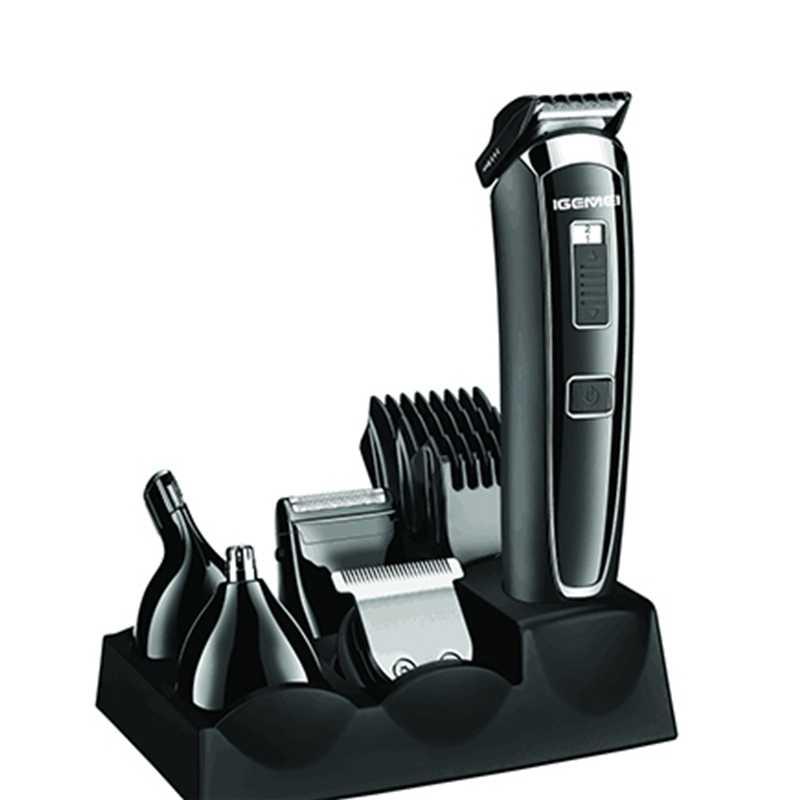 5in1 elétrica aparador de pêlos barba máquina de cortar cabelo para homens sobrancelha trimer nariz bigode barbeador corpo groomer rosto máquina de corte kit