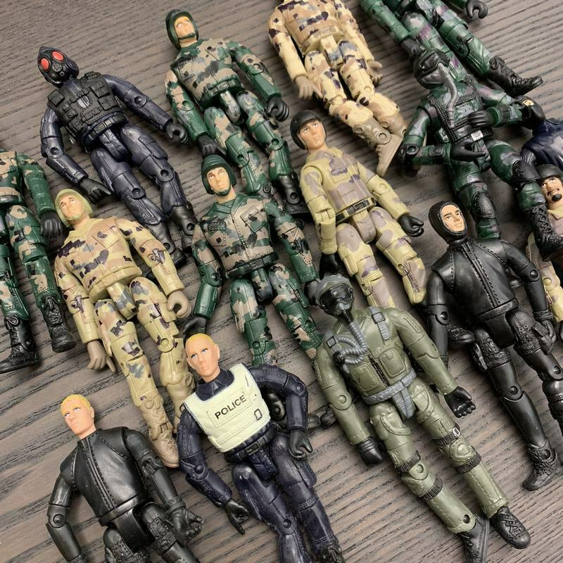 Random 5Pcs Military The Ultimate Soldier WWII Soldier 3.75inch Action Figure Movable Joints Boy Toys Xmas Gift
