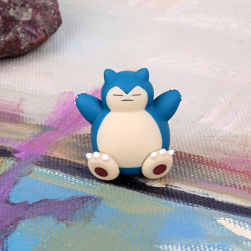 TAKARA TOMY Pokemon Dolls 5pcs Snorlax Figure Keychain Kids Gifts Model Toys Pikachu Pocket Monster in Action Toy Figures from Toys Hobbies
