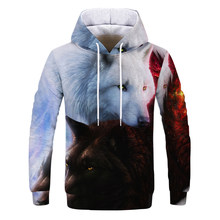 Wolf Printed Hoodies new 3d Hoodies Brand Sweatshirts Boy Jackets Quality Pullover Fashion Tracksuits Animal Streetwear Out Coat(China)