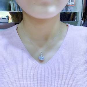 Image 5 - Prawdziwe moissanite Super popularne style, naszyjniki, ladiesparty gry. 925 srebrny