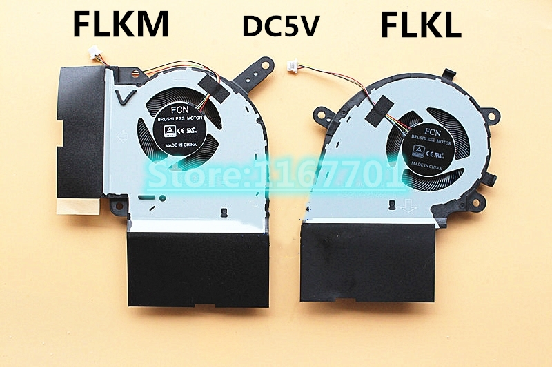 New ORG Laptop CPU/GPU Cooling Fan For ASUS ROG Strix Hero III <font><b>G731</b></font> G731G G731GW DFS5K12304363L-FLKL DFS5K12115491L-FLKM image