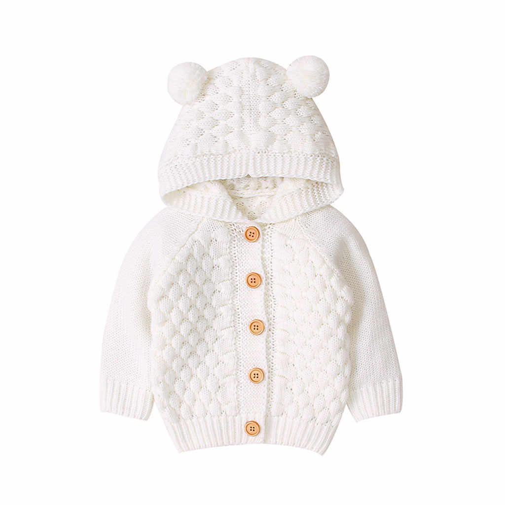 SAGACE Kızlar Ceket Kış Bebek Kız Erkek Moda sıcak tutan kaban Örme Dış Giyim Yenidoğan Bebek Pamuk Kapşonlu ceketler çocuk Katı düğme