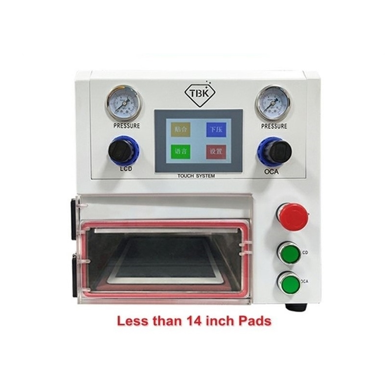 And OCA TBK Screens Fat Tablet Curved Laminating Vacuum Machine Lamination 108P LCD For Straight