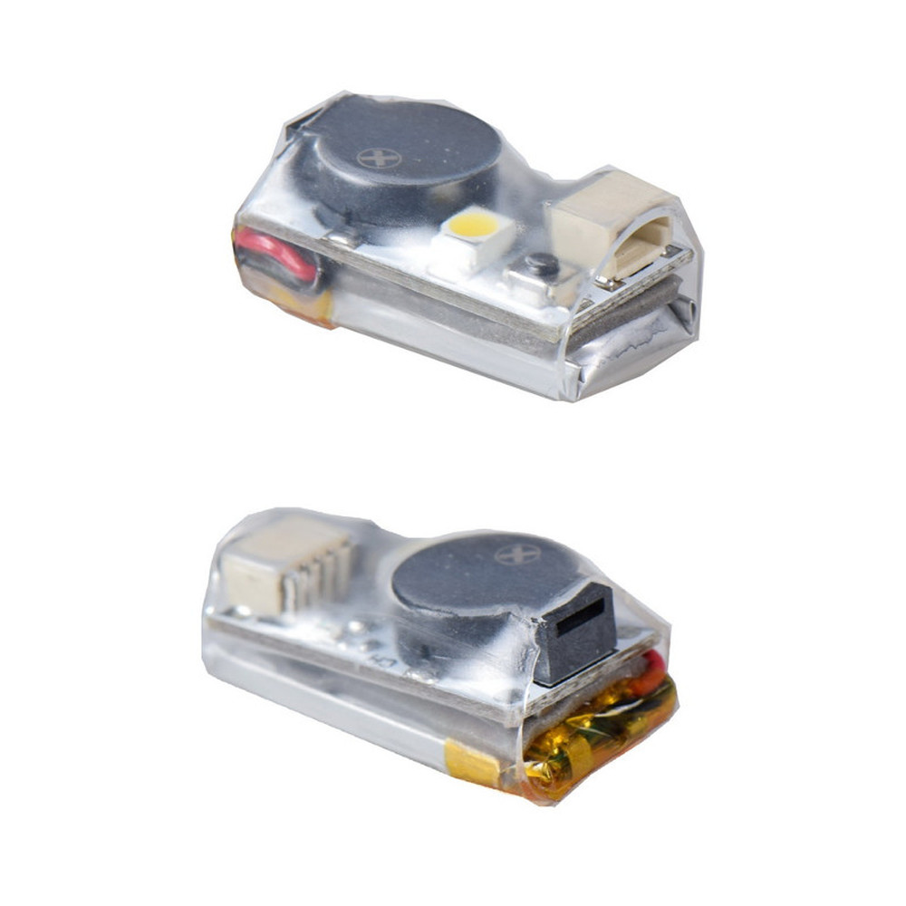 2PCS 2.7g JHE20B 100DB Finder Buzzer Built-in Battery With LED Light For RC FPV Racing Drone F3 F4 F7 Flight Control VS Vifly