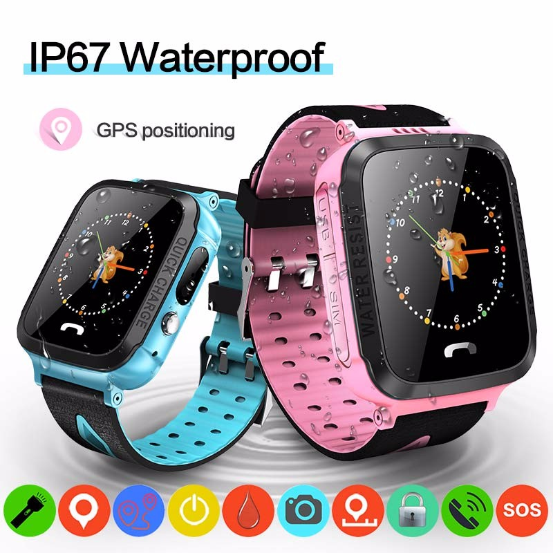 H6e66e1c8f8bd4857b0e912d95ddac6b73 - GPS kids Smart Watch Phone Position Children Watch 1.22 inch Color Touch Screen WIFI SOS Tracker Smart Baby Watch IOS & Android