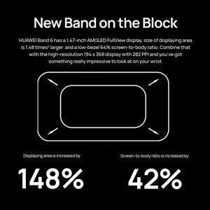 Image 5 - 100% Original Huawei Band 6 Wristbands Blood Oxygen Heart Rate Tracker 1.47 inch AMOLED Smartband