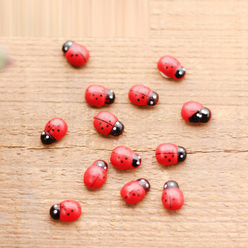 20pcs Gardening accessories,seven-spotted ladybug,succulent plant accessories,DIY bonsai potted plants small ornaments