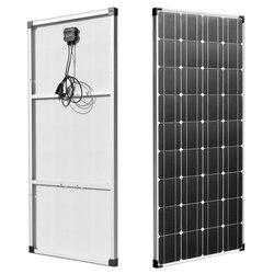 BOGUANG 150W 18V Solar Panel Lightweight Module PV Power for 12v Battery Charging Boat Caravan Any Other Off Grid Applications