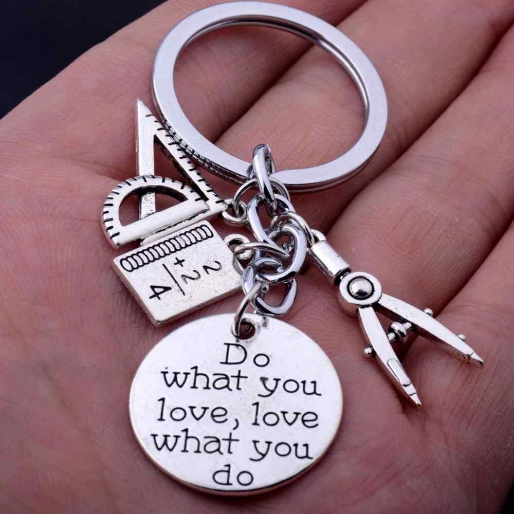 Kompas Segitiga Penggaris Buku Matematika Pesona Liontin Guru Matematika Gantungan Kunci Terukir Kata Melakukan Apa Yang Anda Cintai Mencintai Apa Yang Anda Lakukan gantungan Kunci