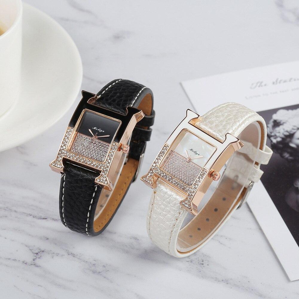 Women Watches Women Fashion Watch 2020  Belt watches Ladies Watch Luxury Brand H-shaped Quartz  Wrist Watch Gifts For Women