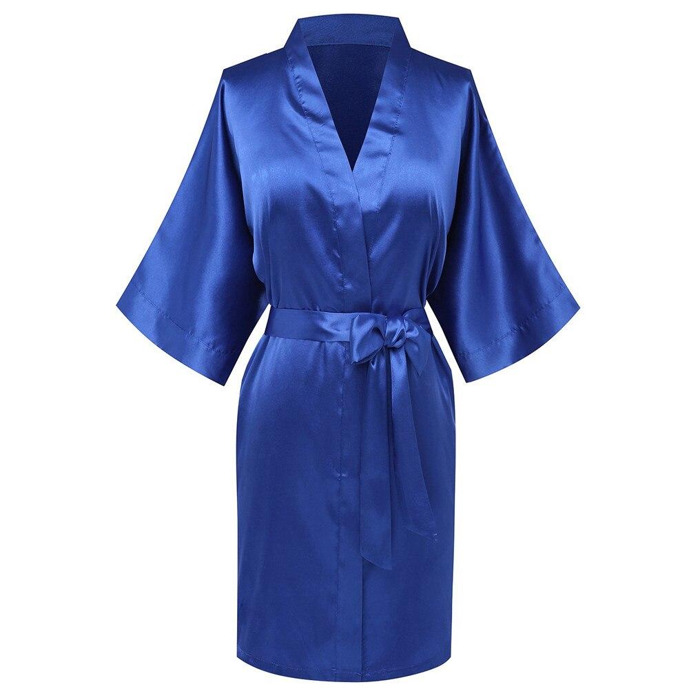 Satin Bride Bridesmaid Wedding Robe Sleepwear Nightwear Sexy Kimono Home Clothing Gown Women Nghtdress Bathrobe Homewear