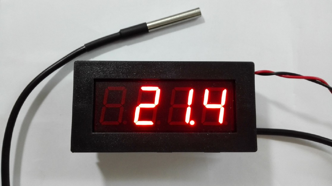 485 Temperature Acquisition Module LED Display <font><b>DS18B20</b></font> 2 Output 2 Input <font><b>MODBUS</b></font> RTU image