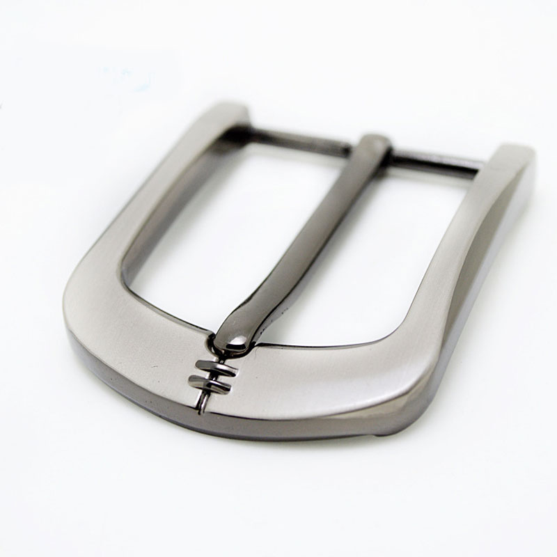 1Pc 40mm Metal Belt Buckle Brushed Men's End Buckle Single Pin Belt Half Buckle New High Quality Silver Belt Webbing Accessories