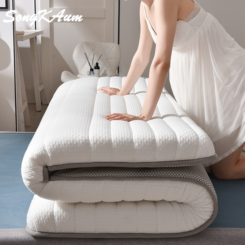 SongKAum New Fashion Latex Mattress Folding Mattress  For Queen/King /Twin/Full Size Bed Breathe Foam Tatami Mattress