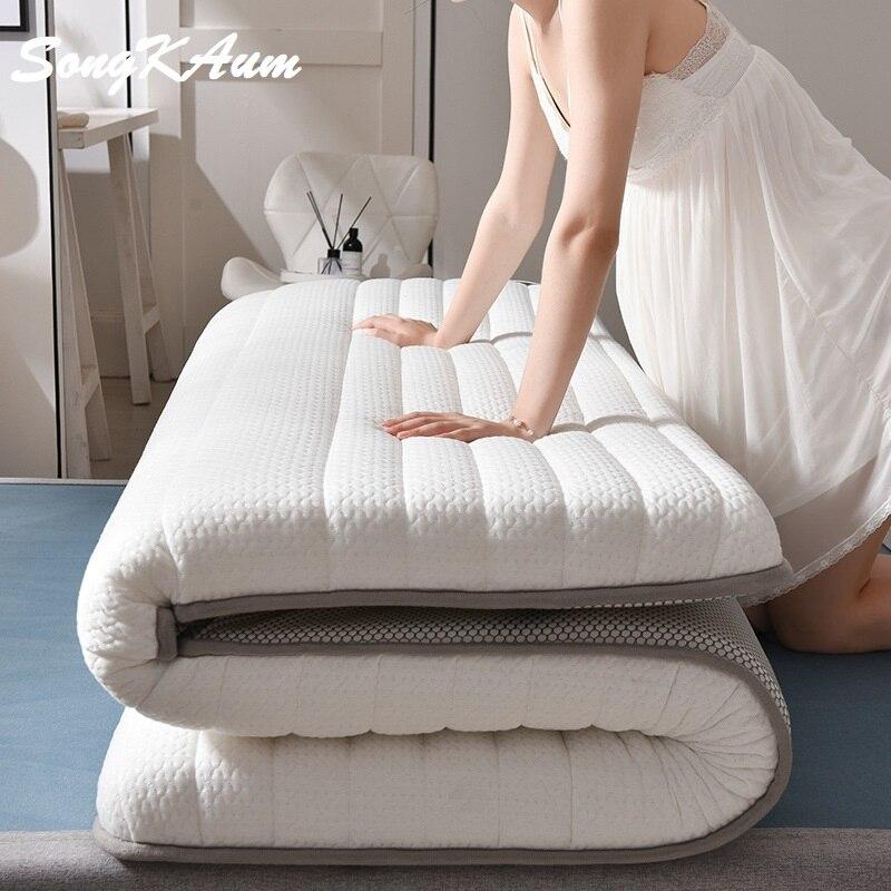 SongKAum New Fashion Latex Mattress Folding Mattress For Queen/King /Twin/Full Size Bed Breathe Foam Tatami Mattress