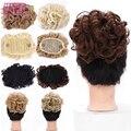 WTB 8 видов цветов короткий кудрявый синтетический шиньон, Женская резинка, Расческа с зажимом для наращивания волос, аксессуары для волос